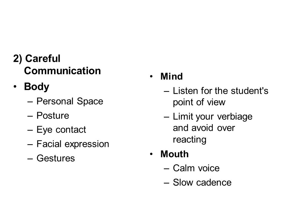2) Careful Communication Body