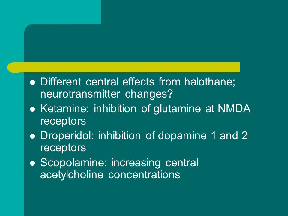 Different central effects from halothane; neurotransmitter changes