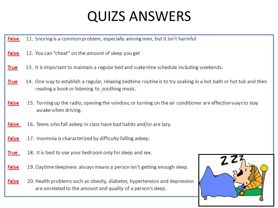 QUIZS ANSWERS