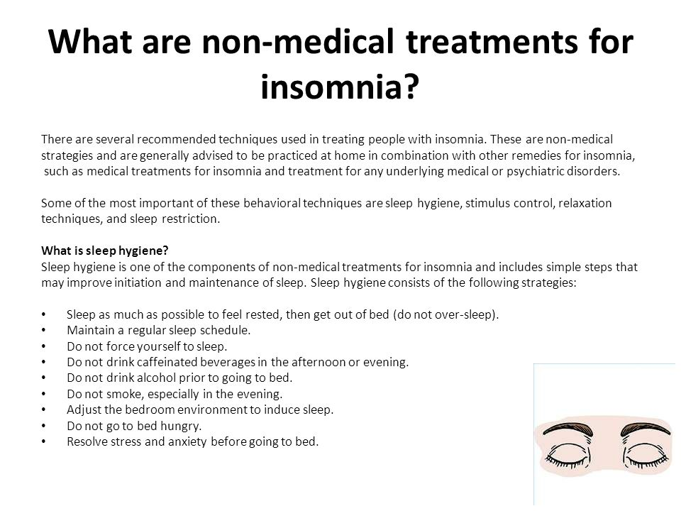 What are non-medical treatments for insomnia