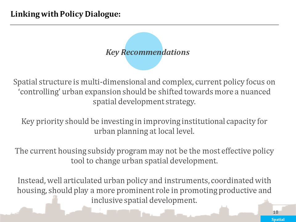 Linking with Policy Dialogue: