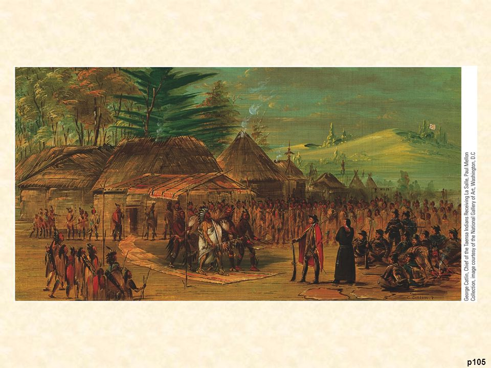 Chief of the Taensa Indians Receiving La Salle, March 20, 1682, by George Catlin, 1847–1848