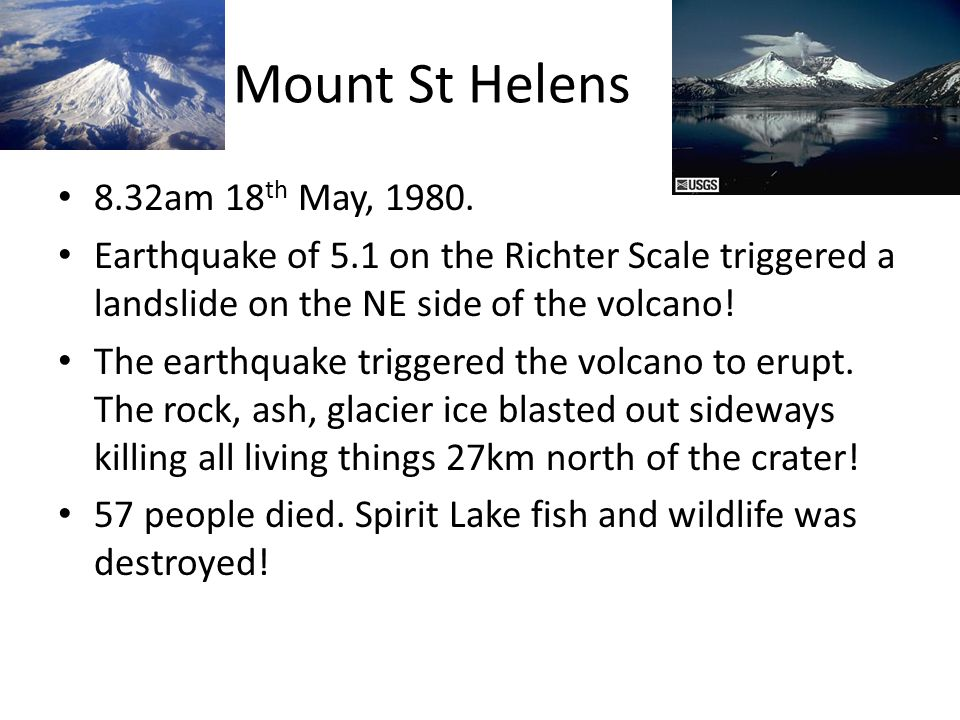 Mount St Helens 8.32am 18th May, 1980.