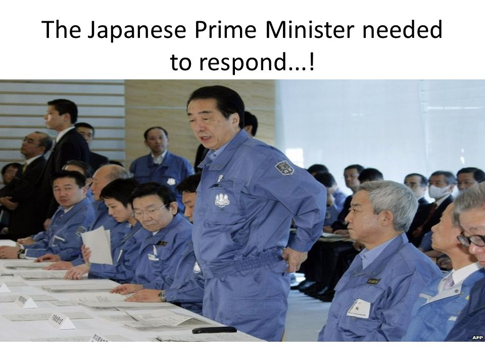 The Japanese Prime Minister needed to respond...!