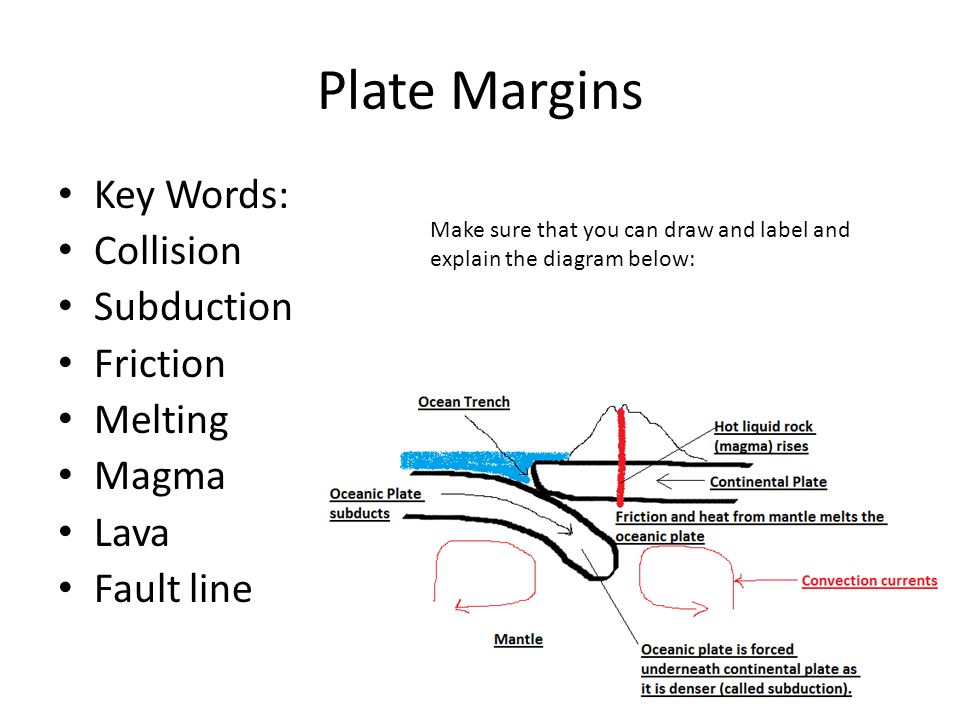 Plate Margins Key Words: Collision Subduction Friction Melting Magma