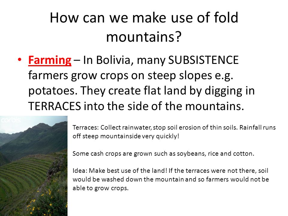 How can we make use of fold mountains