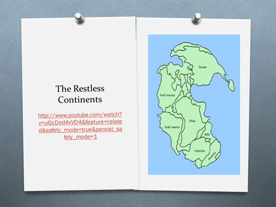 The Restless Continents