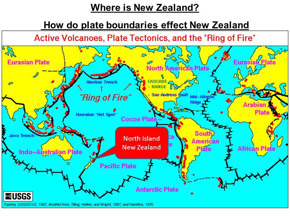 How do plate boundaries effect New Zealand