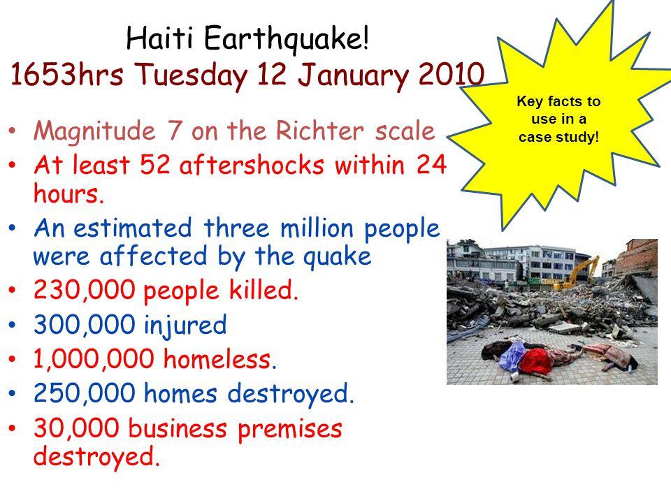 Haiti Earthquake! 1653hrs Tuesday 12 January 2010