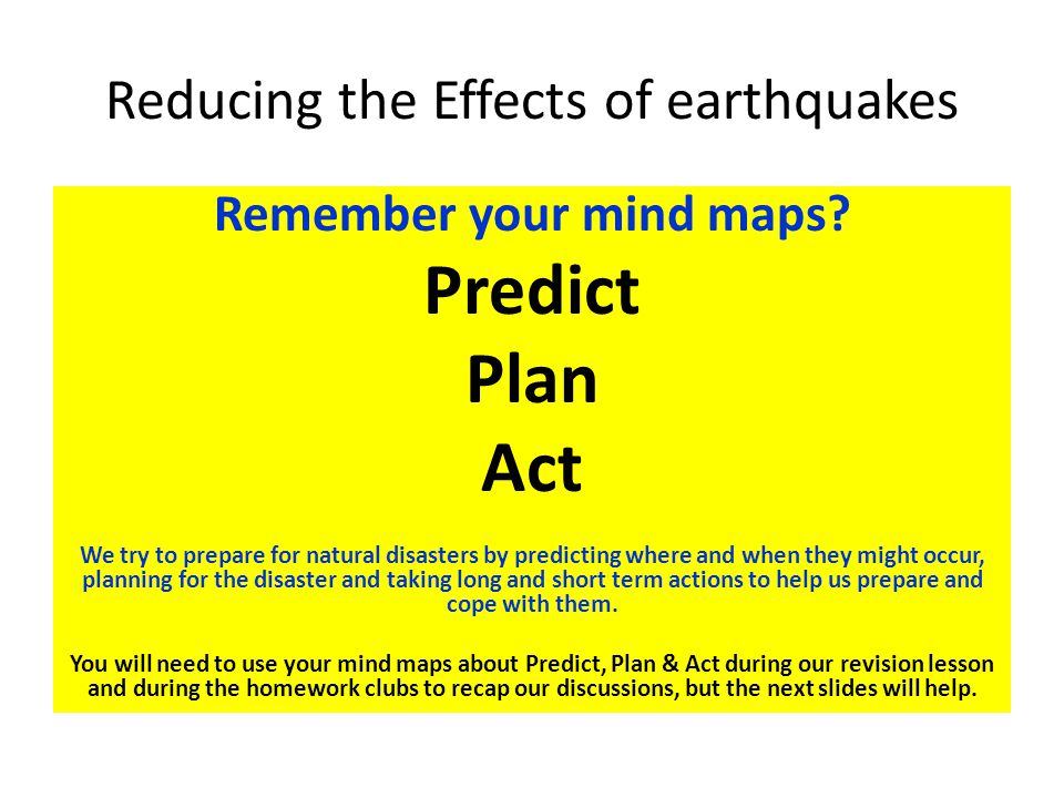 Reducing the Effects of earthquakes