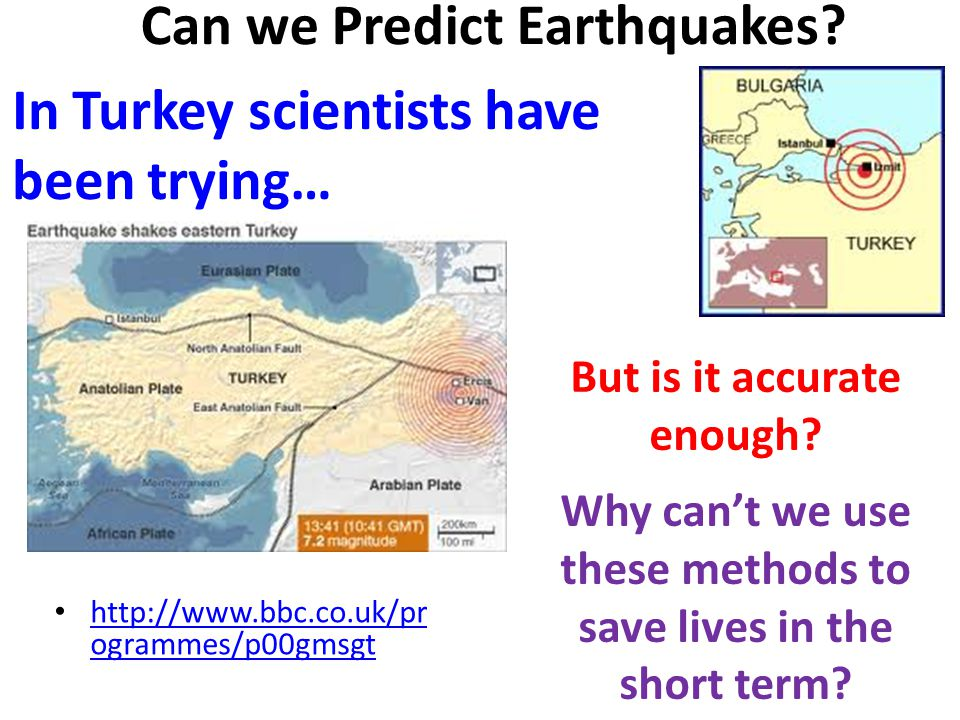 Can We Predict Natural Disasters
