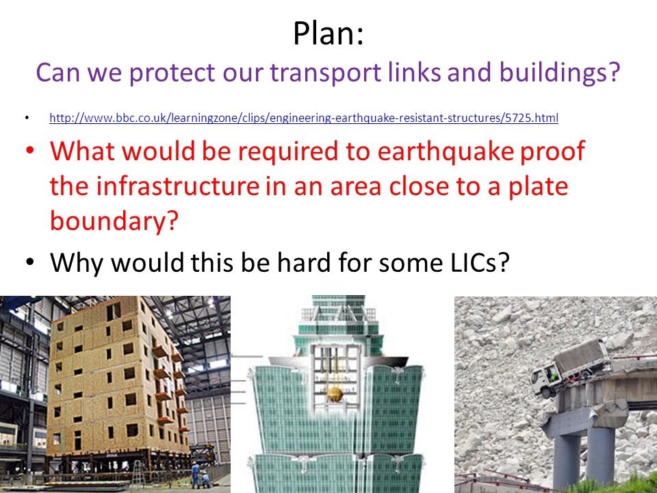 Plan: Can we protect our transport links and buildings