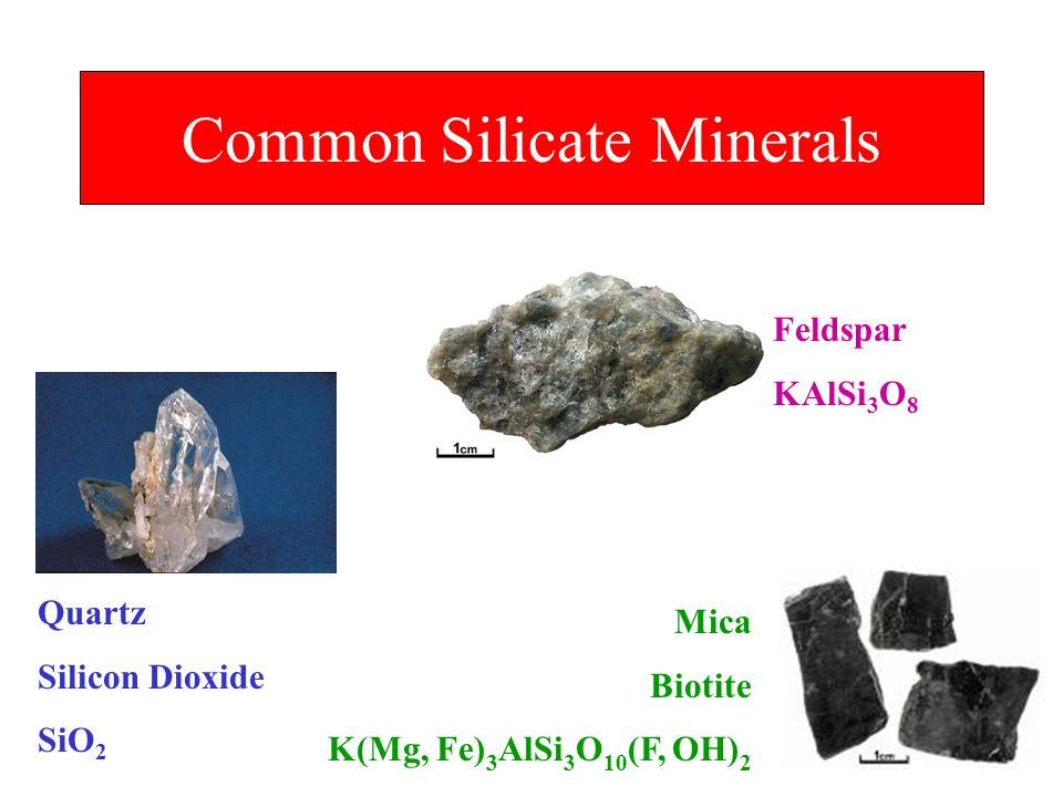 Common Silicate Minerals
