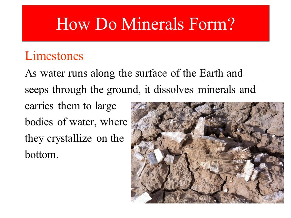 How Do Minerals Form Limestones