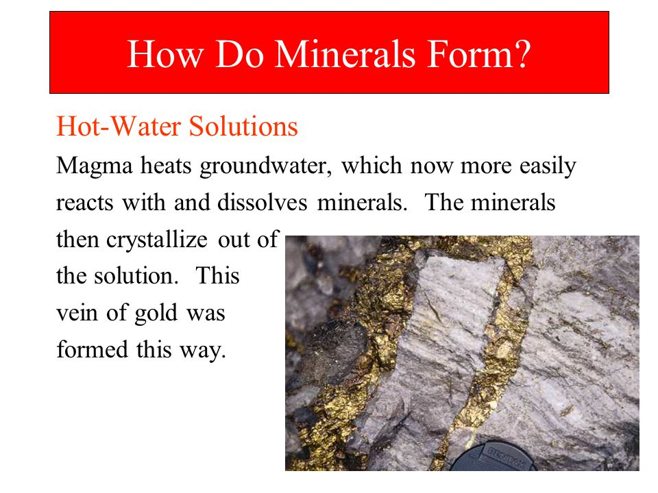 How Do Minerals Form Hot-Water Solutions