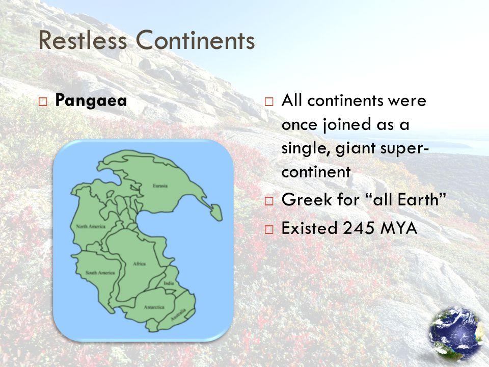 Restless Continents Pangaea
