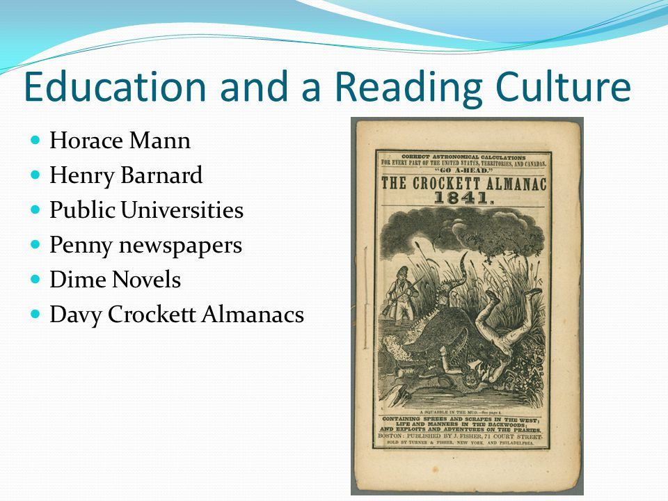 Education and a Reading Culture