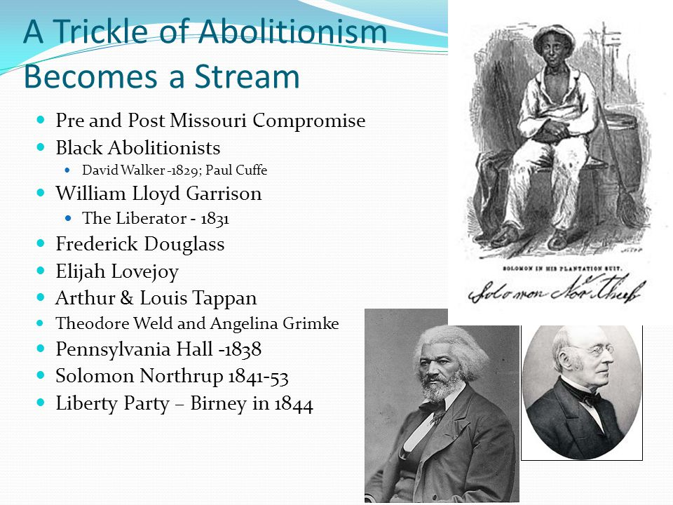 A Trickle of Abolitionism Becomes a Stream