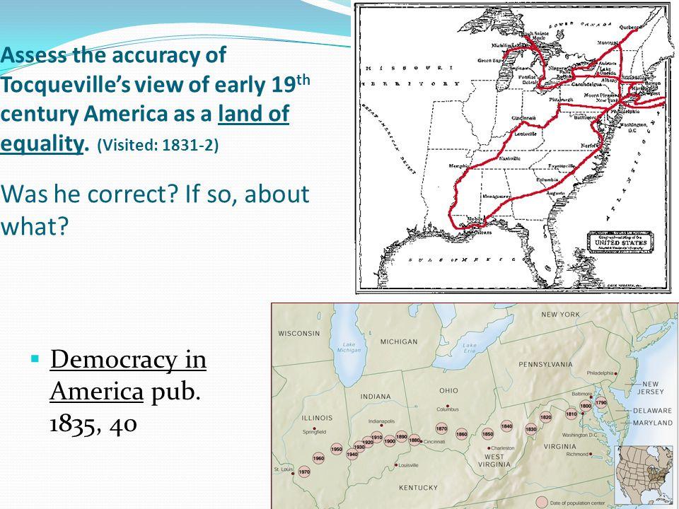 Democracy in America pub. 1835, 40