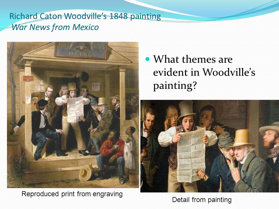Richard Caton Woodville's 1848 painting War News from Mexico