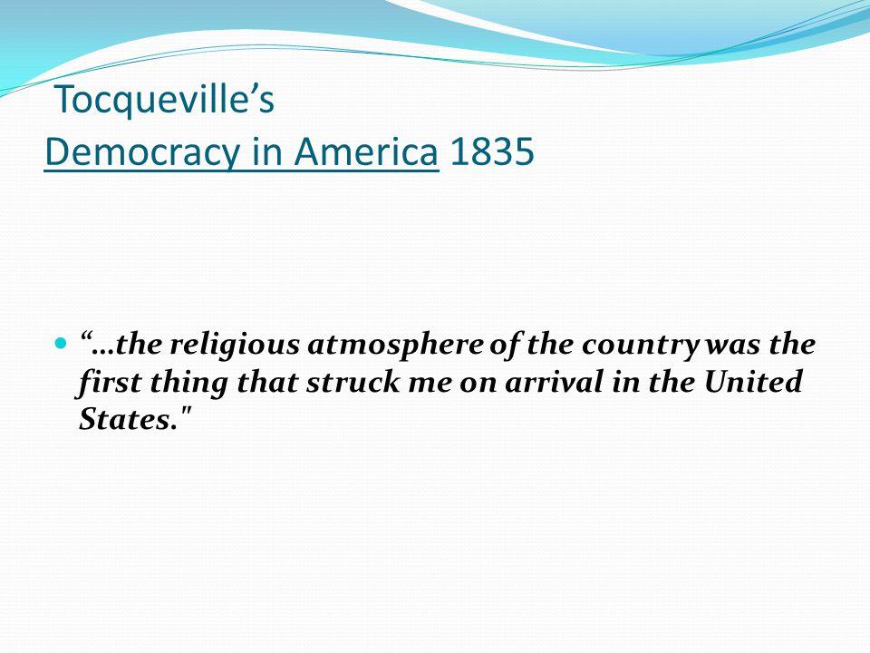 Tocqueville's Democracy in America 1835