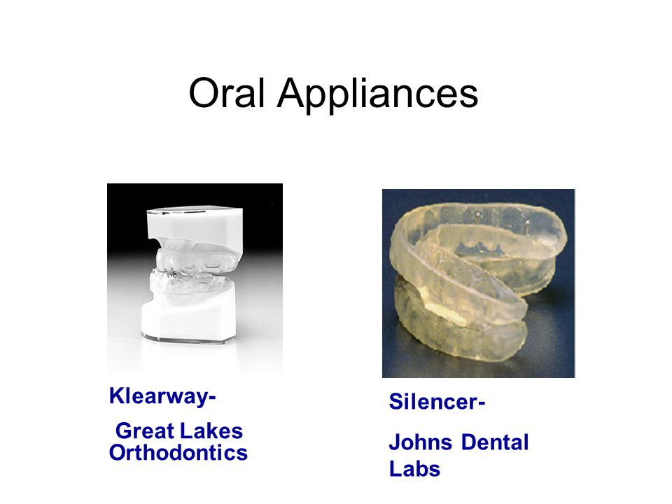 Oral Appliances Klearway- Silencer- Great Lakes Orthodontics