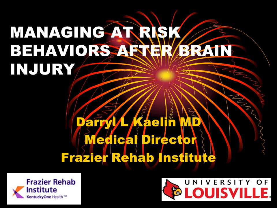 MANAGING AT RISK BEHAVIORS AFTER BRAIN INJURY