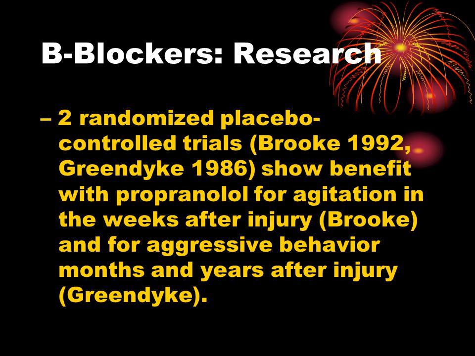 B-Blockers: Research