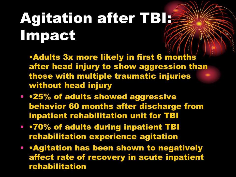 Agitation after TBI: Impact