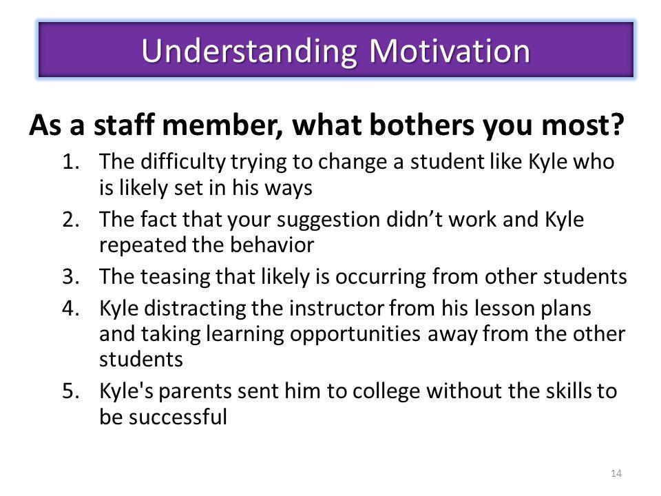 Understanding Motivation