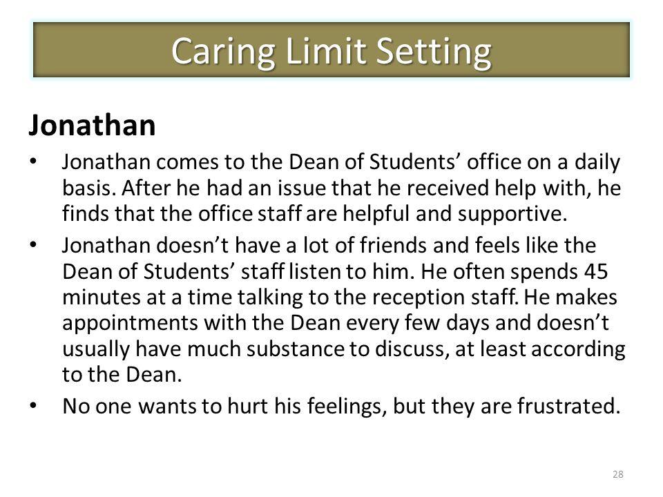 Caring Limit Setting Jonathan