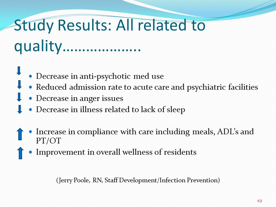 Study Results: All related to quality………………..