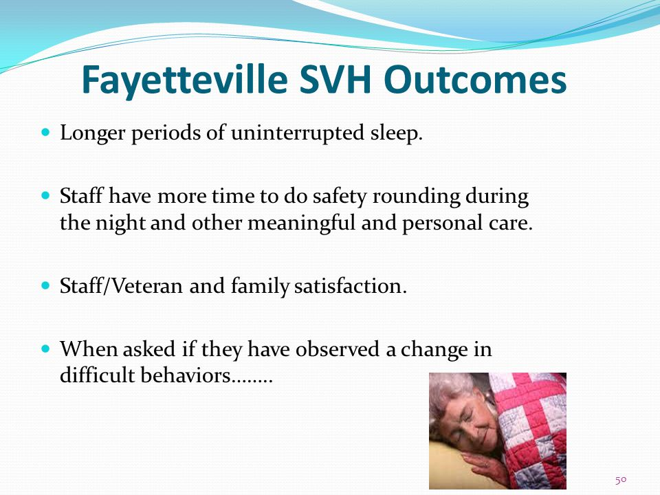 Fayetteville SVH Outcomes