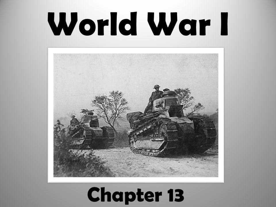 World War I Chapter 13