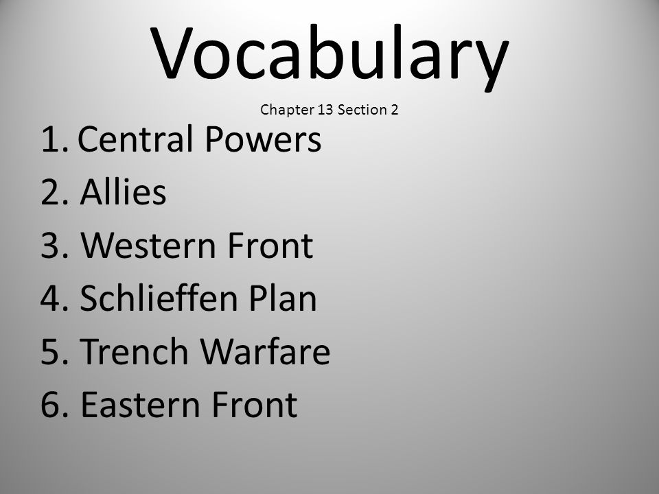 Vocabulary Chapter 13 Section 2