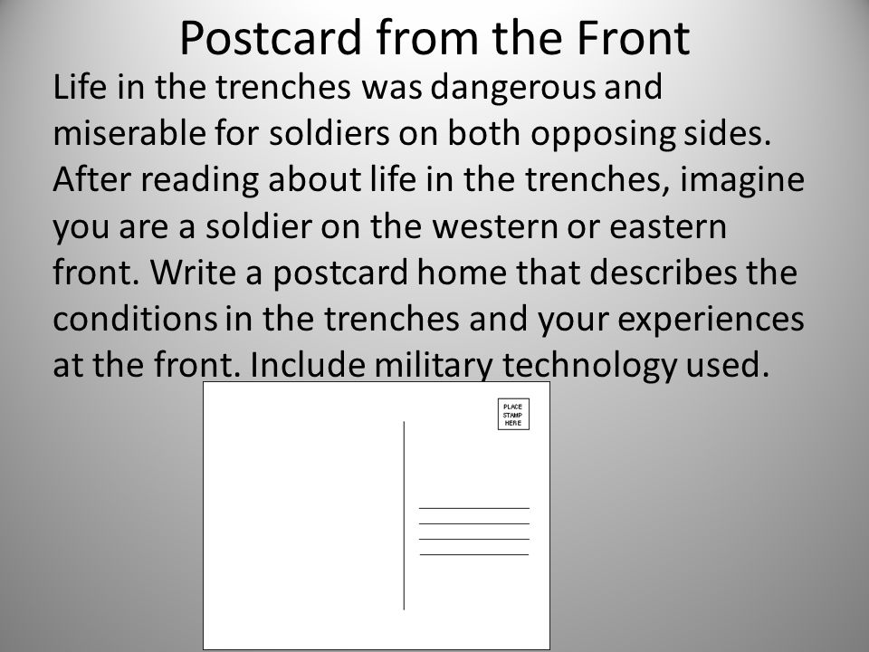Postcard from the Front