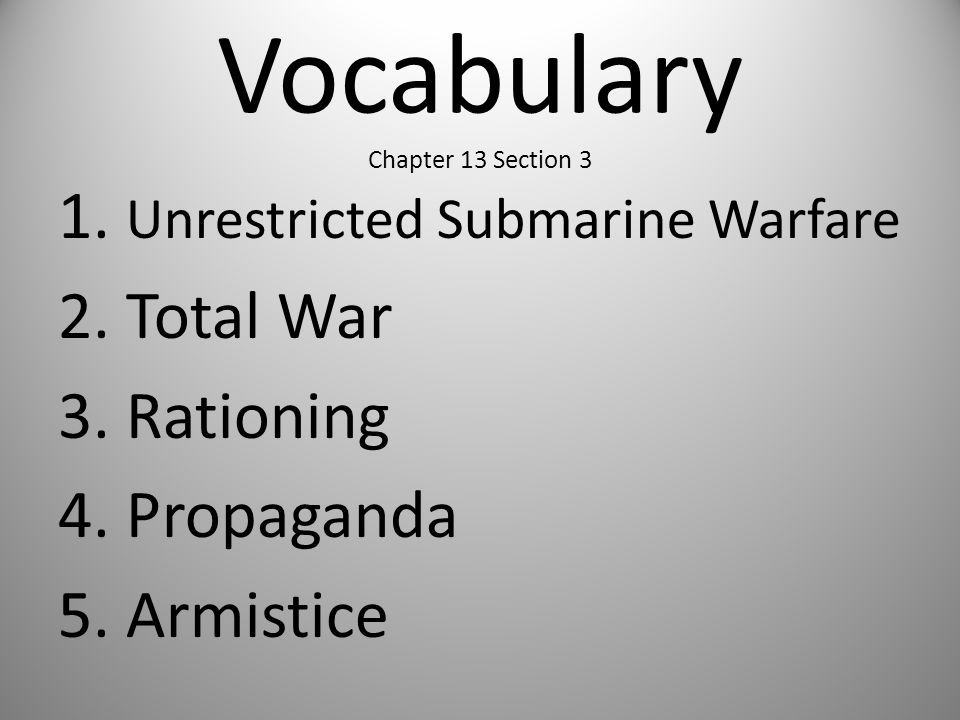 Vocabulary Chapter 13 Section 3