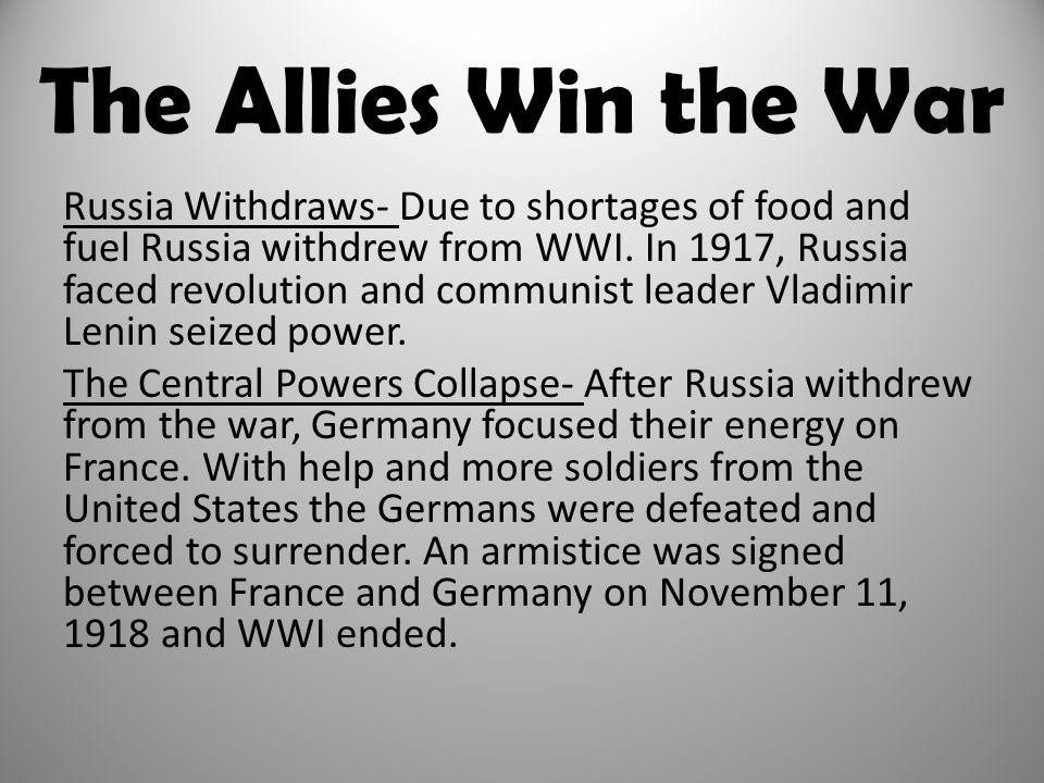The Allies Win the War