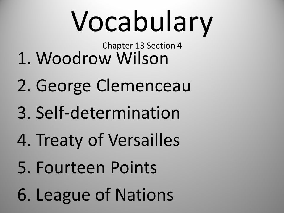 Vocabulary Chapter 13 Section 4