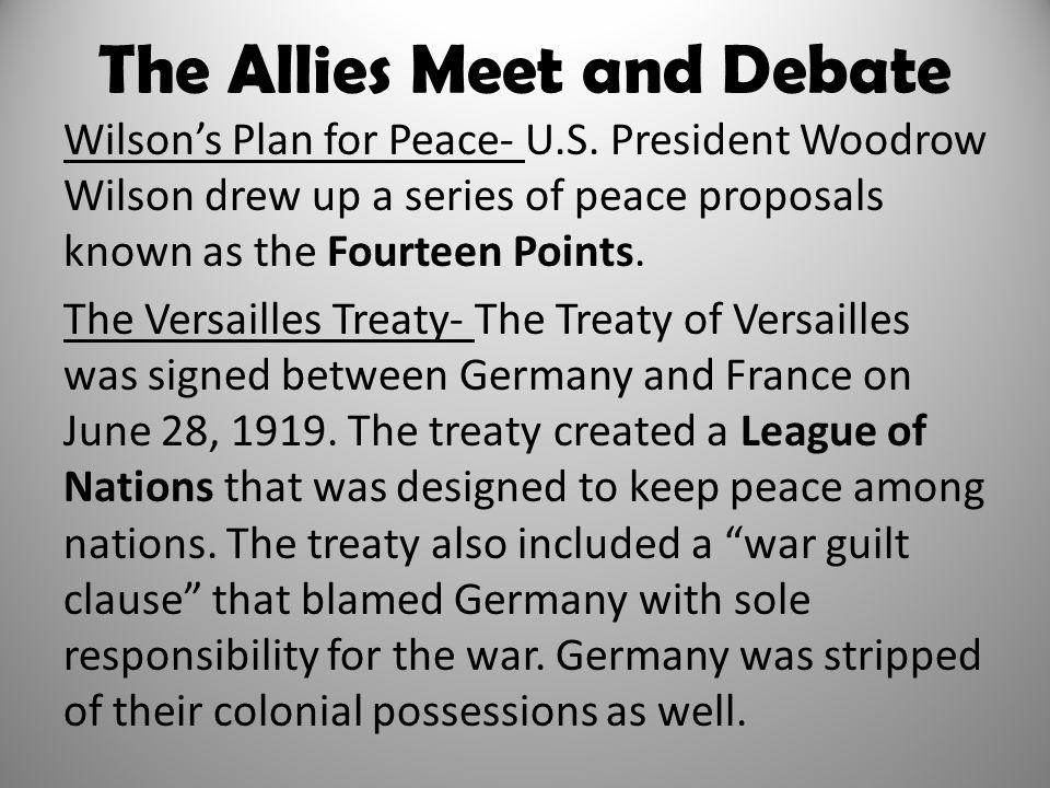 The Allies Meet and Debate
