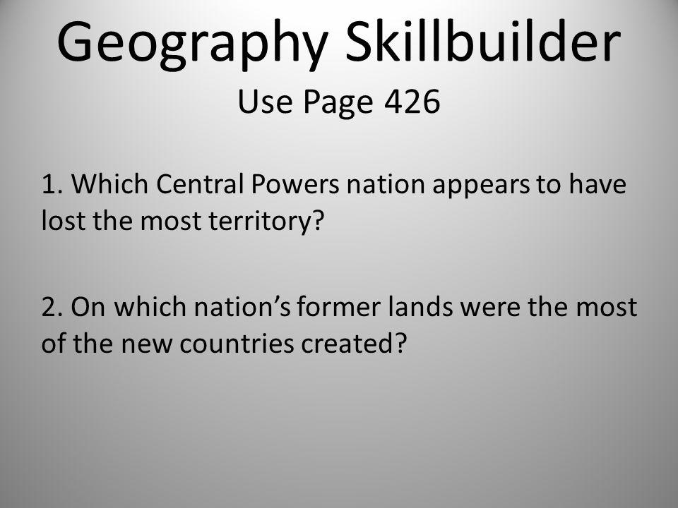 Geography Skillbuilder Use Page 426