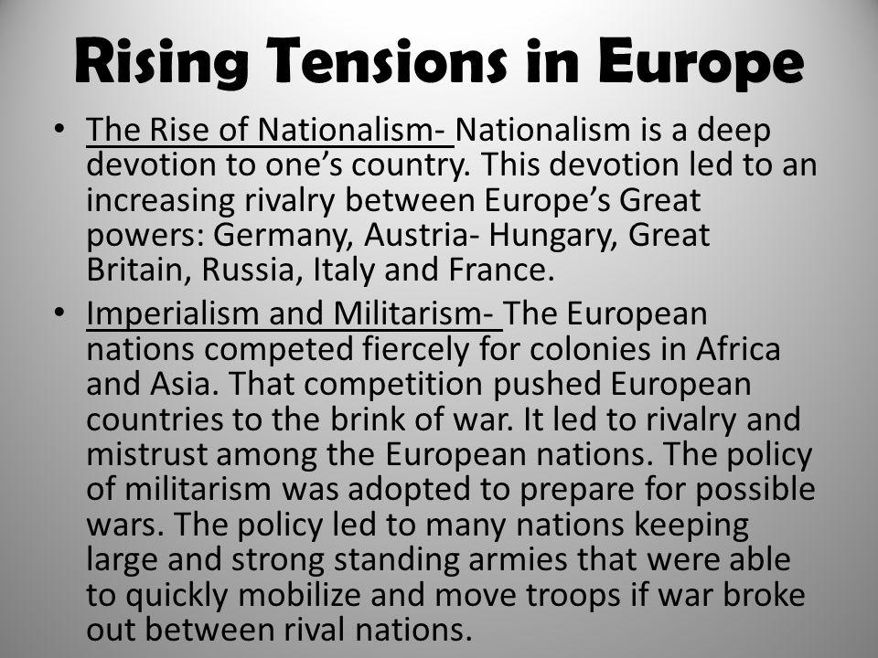 Rising Tensions in Europe