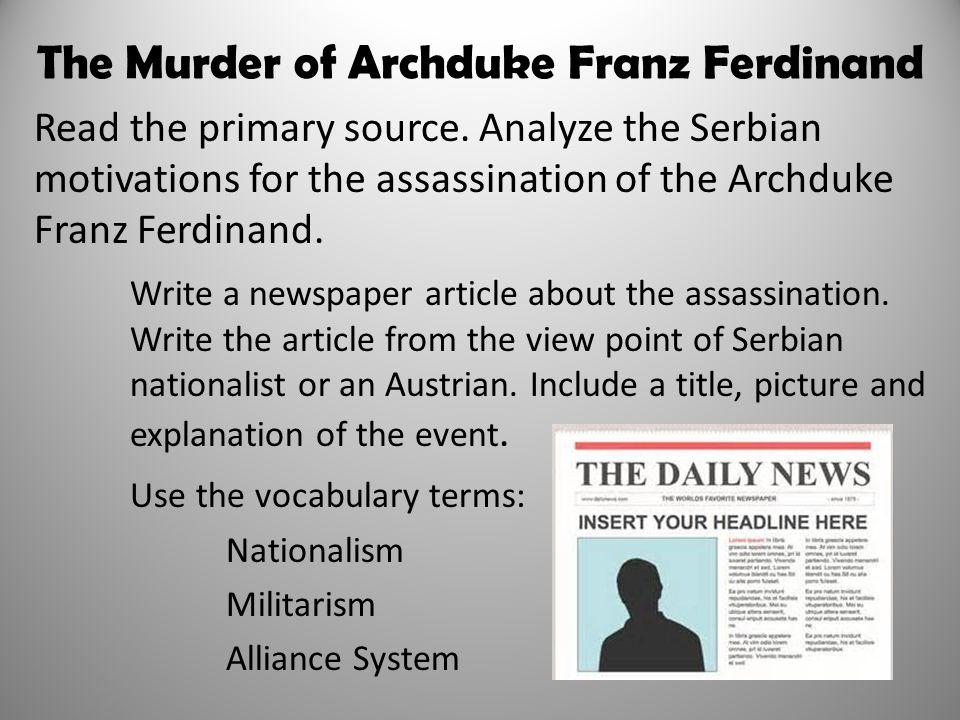 The Murder of Archduke Franz Ferdinand