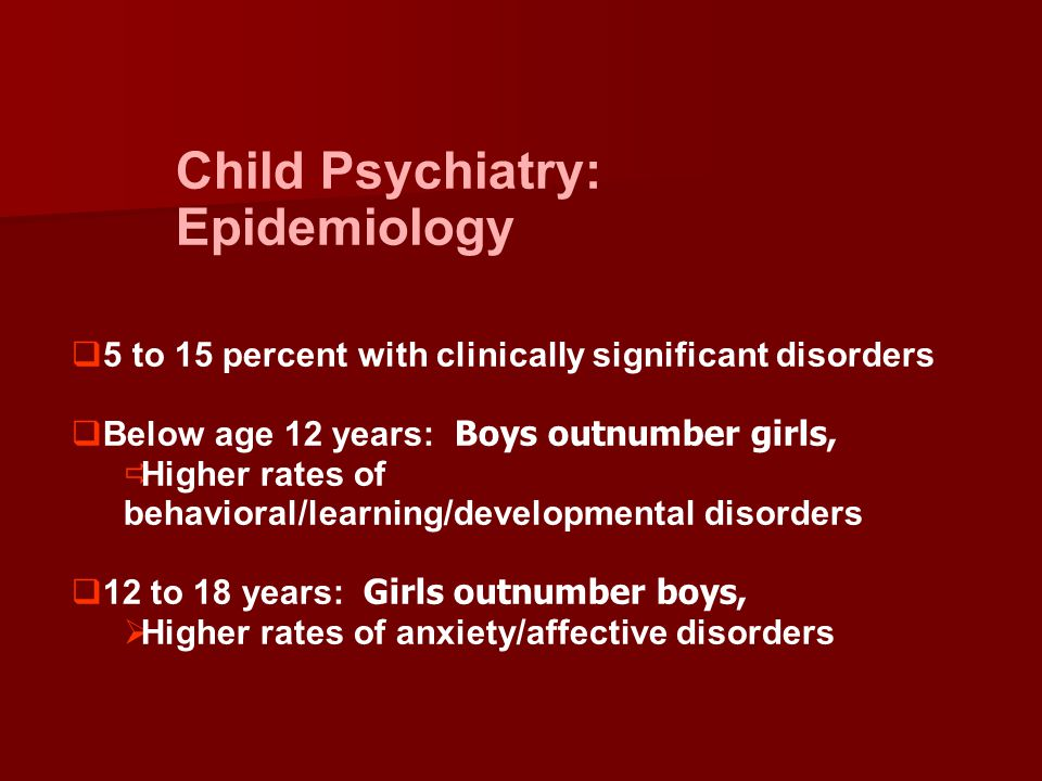 Child Psychiatry: Epidemiology
