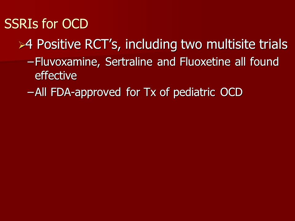 4 Positive RCT's, including two multisite trials