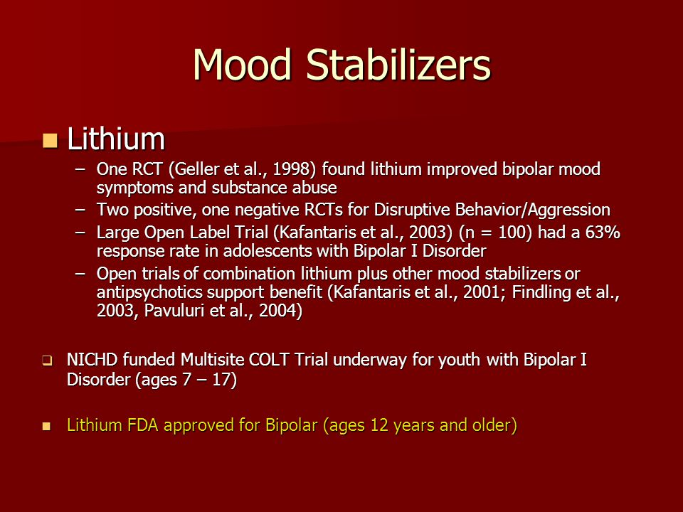 Mood Stabilizers Lithium