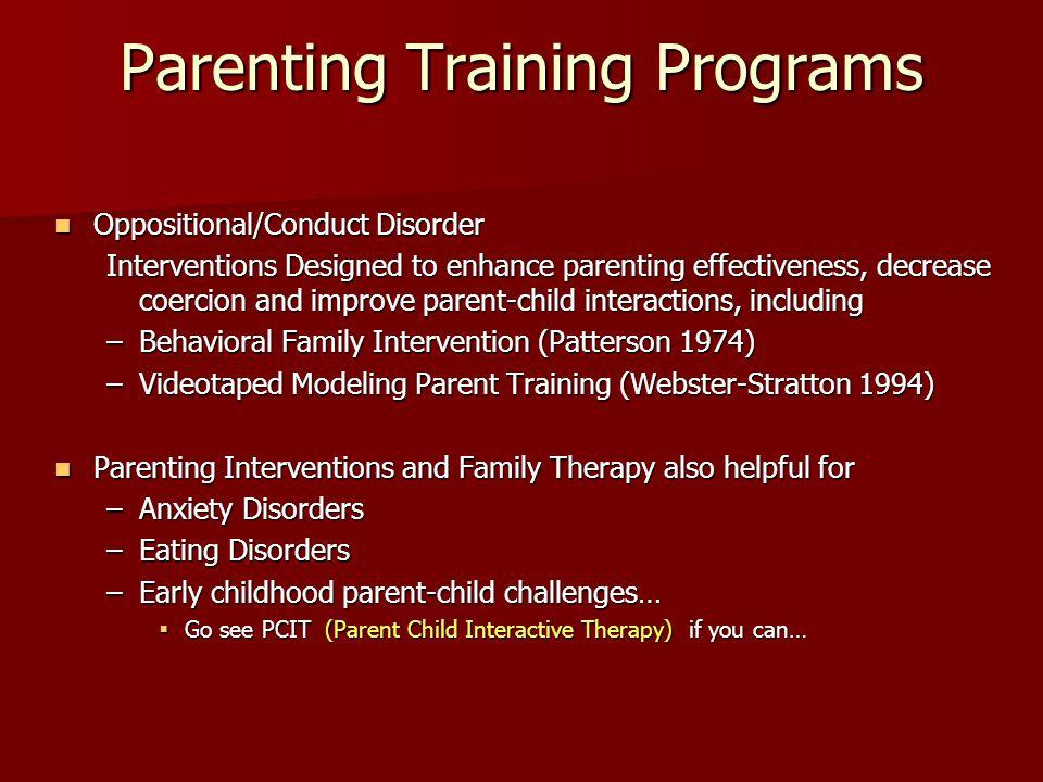 Parenting Training Programs