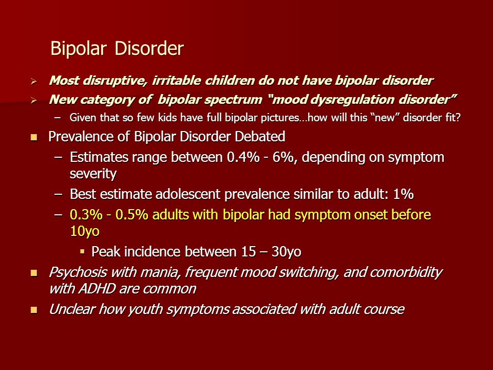 Bipolar Disorder Prevalence of Bipolar Disorder Debated