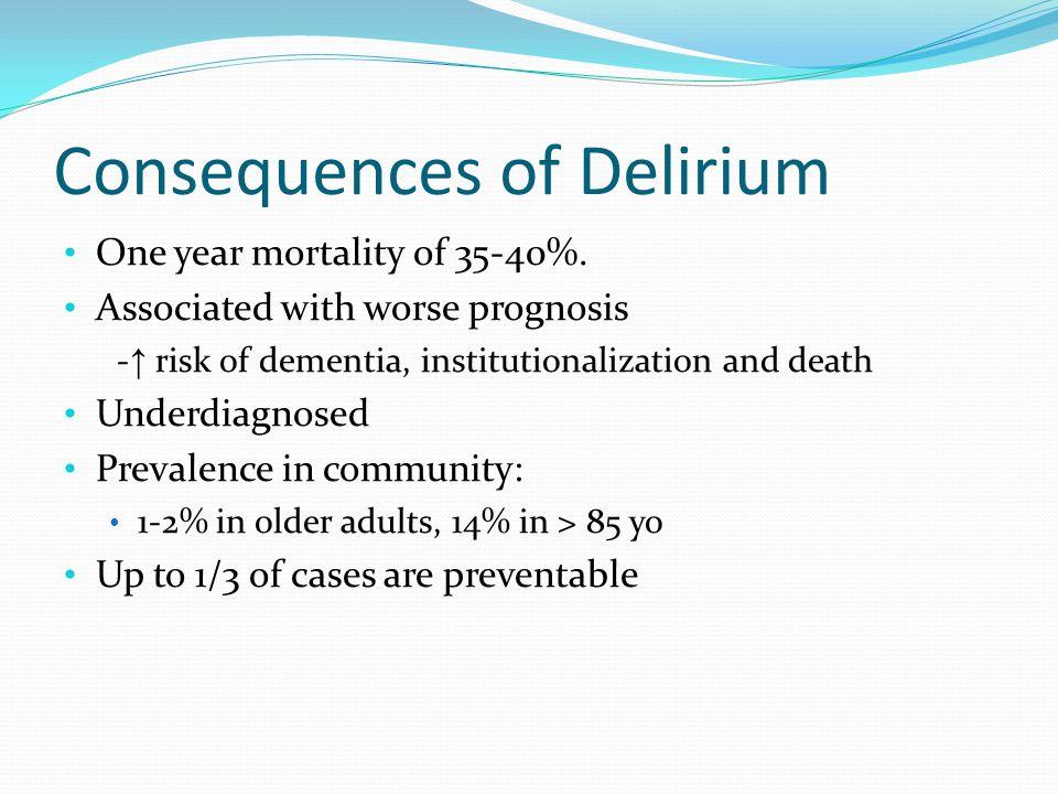 Consequences of Delirium