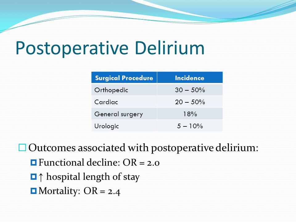 Postoperative Delirium